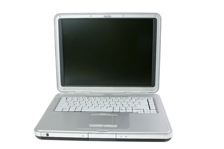 Laptop isolated on a white background photo
