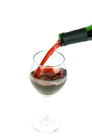 pouring wine on a white background Stock Photo - 716298