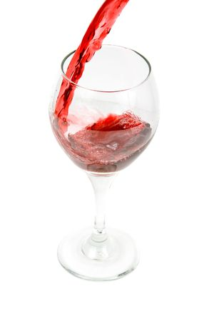 pouring wine on a white background Stock Photo - 716297