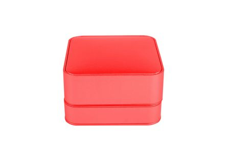 red jewelry box isolated on a white background Stock Photo