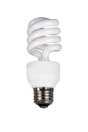 milky fluorescent light bulb isolated on a white background Stock Photo
