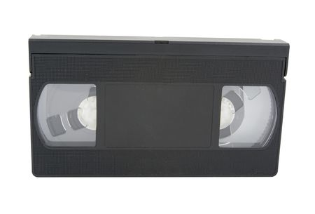 vhs videotape: video tape isolated on a white background