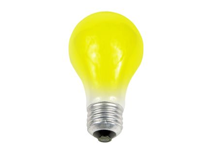 yellow light bulb isolated on a white background Stok Fotoğraf - 826763