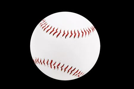 throw up: baseball ball isolated on a black background Stock Photo