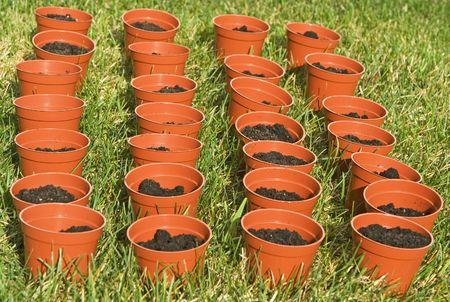 jardineras: orden� plantadores en el jard�n