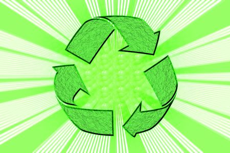 abstract of recycle  symbol with background exlosion