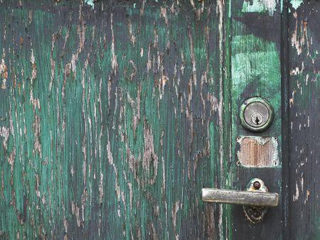 closeup shoot of a very old wooden door