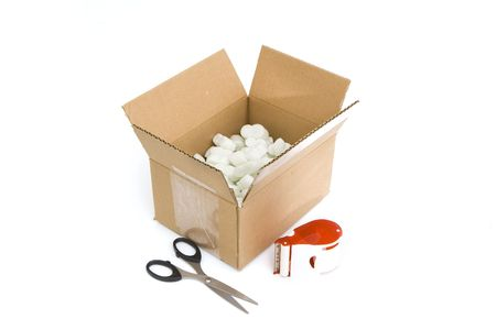 shipping supplies: shipping supplies isolated against white background
