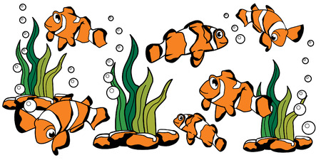 clown fish: illustration of nemo clown fish cartoon Illustration