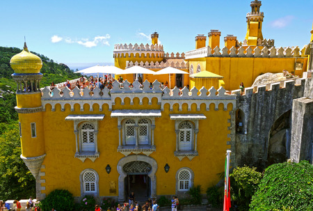 castle if: Pena Palace, Sintra. PORTUGAL. Editorial