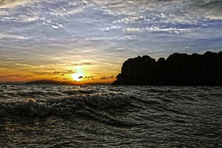 railay: Sunset in Railay. THAILAND.