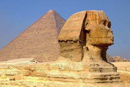 egyptology: Sphinx, Egypt. Stock Photo