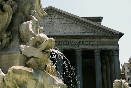 quenching: Pantheon, Rome. ITALY Stock Photo