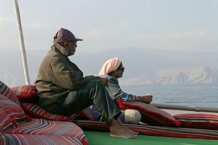 musandam: Musandam Khasab Dhow Cruise. OMAN.
