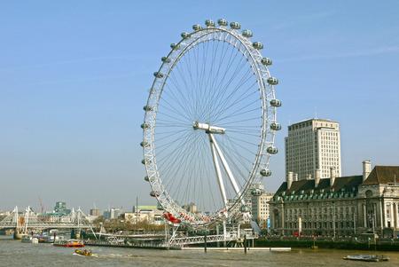 The London Eye, London. ENGLAND.