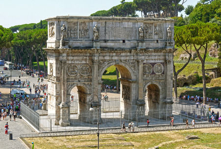 Arch of Constantine near the Colosseum, Rome. ITALY. Stock Photo