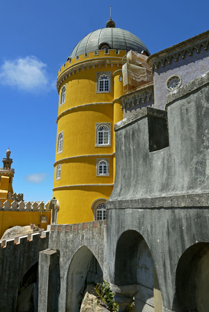 castle if: Pena Palace, Sintra. PORTUGAL. Stock Photo