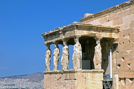The caryatids of the Erechtheion, Greece.