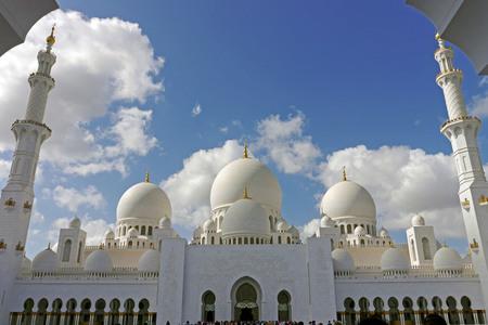 Sheikh Zayed, the big mosque in Abu Dhabi, UAE.