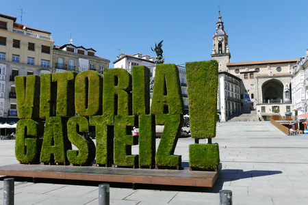 Virgen Blanca square in Vitoria Gasteiz, Basque Country, Spain.