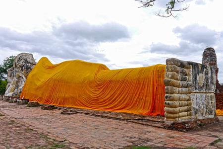 Buddha reclined in Ayutthaya. THAILAND