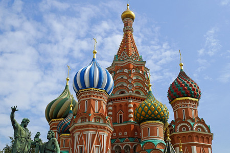 St. Basils Cathedral on Red square, Moscow, Russia.
