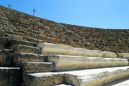 Salamis 고 대 도시 유적, Famagusta입니다. 북 사이 프러스. 스톡 콘텐츠