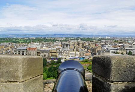 Cannon at the Edinburgh Castle in Scotland.