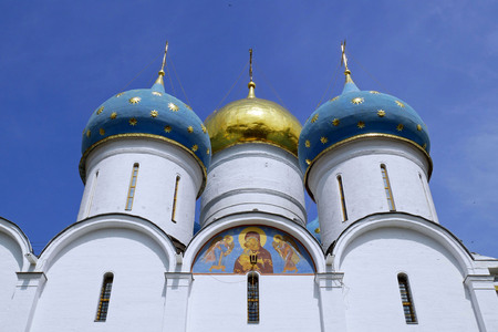 Assumption Cathedral, Trinity Sergius Lavra in Sergiev Posad, RUSSIA.