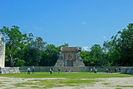 The great ball game court (ball game) at Chichen Itza - Yucatan, Mexico.