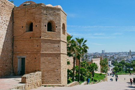 Kasbah of the Udayas in Rabat, Morocco. Standard-Bild - 99862626