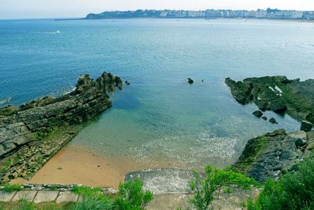Beach of Socoa at Ciboure  Saint Jean de Luz in the Pyr?n?es-Atlantiques, France.