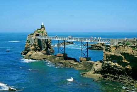 Rocher de la Vierge, Biarritz, France. Banque d'images - 119179090