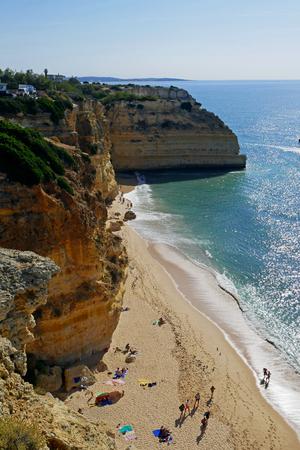Praia da Marinha - Marinha Beach, located on the Atlantic coast in Algarve, Portugal.