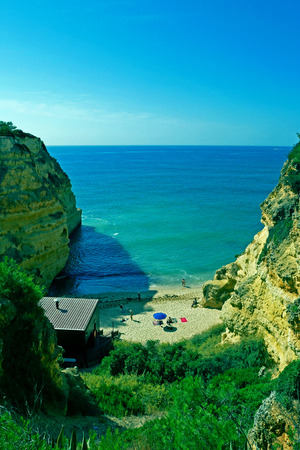 Praia da Marinha - Marinha Beach, located on the Atlantic coast in Algarve, Portugal.