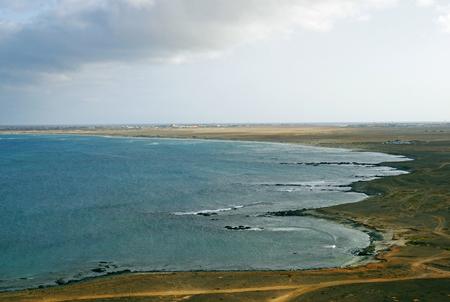 Aerial view of a beautiful beach in Sal Island Cape Verde - Cape Verde