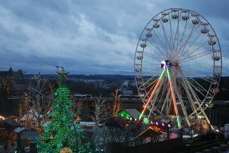 Christmas market (Luxembourg Winterlights Xmas market) of Luxembourg.