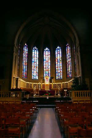 Interior Notre-Dame Cathedral of Luxembourg. 写真素材