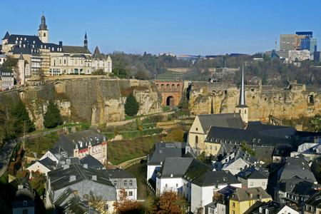 Luxembourg City view from Le Chemin de la Corniche or
