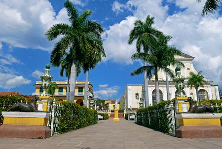 Plaza Mayor of Trinidad in Cuba. 写真素材