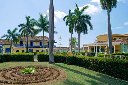 Plaza Mayor of Trinidad in Cuba. 版權商用圖片