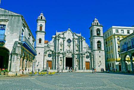 The Cathedral of Havana in Havana, Cuba