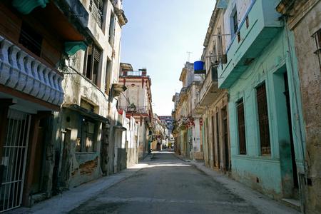Old streets of Old Havana, Havana, Cuba.