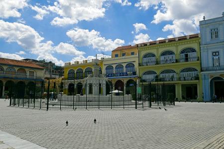 The Old Square Plaza Vieja, Old Havana, Cuba.