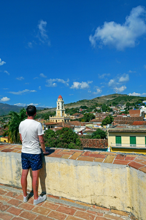 Aerial view of the historic town of Trinidad in CUBA.