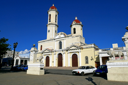 The Cathedral of Immaculate Conception in Cienfuegos, Cuba Stock Photo