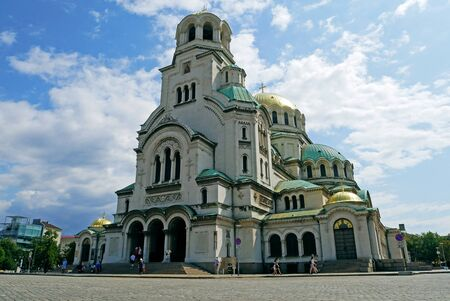 St. Alexander Nevsky Cathedral in Sofia, Bulgaria. Фото со стока
