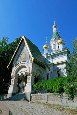 Russian St. Nicholas church in Sofia city, Bulgaria. 写真素材