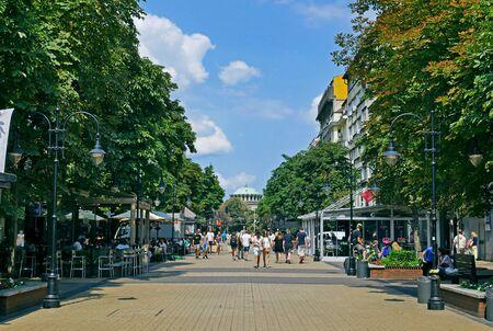 Boulevard Vitosha street in city of Sofia, Bulgaria.
