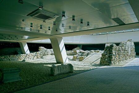 Archaeological excavation of the roman city of Ulpia Serdica in Sofia, Bulgaria. 写真素材